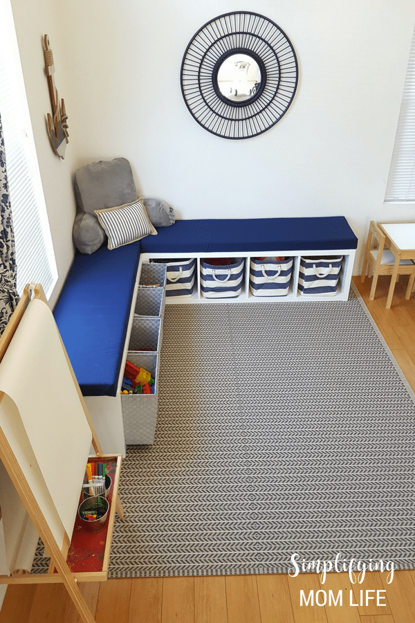 IKEA-Kallax-Hack-Storage-Benches-for-Playroom-DIY-window-bench