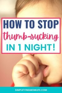 How to Stop Thumb-Sucking in 1 Night