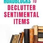 decluttering sentimental items