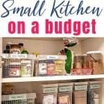 organize a small kitchen on a budget