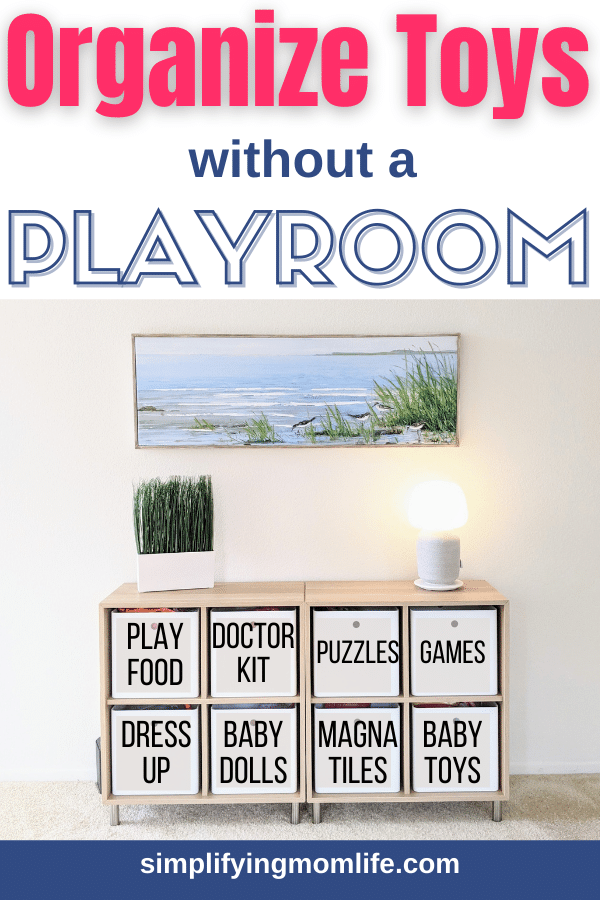 organizing toys without a playroom - organizing toys in living room